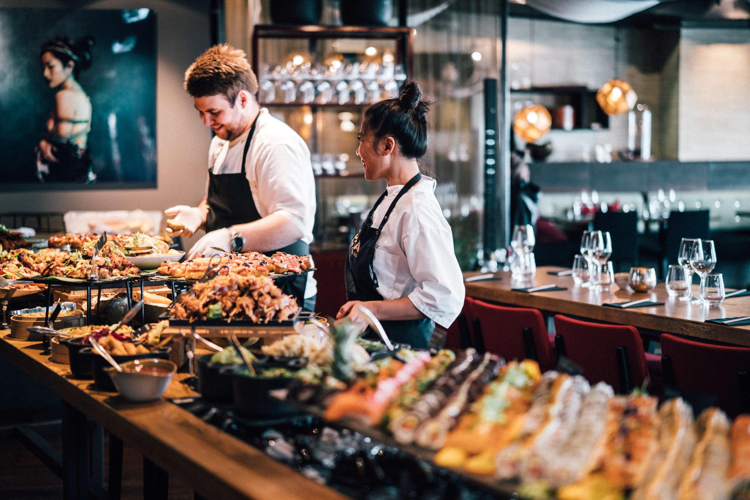 Asiatisk buffet på Ohma